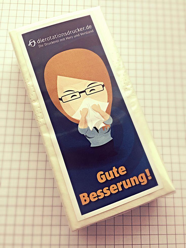 Jetzt kommt wieder die Erkältungszeit,... wir sind vorbereitet un spenden unseren Kunden eine kleine Aufmerksamkeit. #Taschentuch #Papiertaschentuch #gutebesserung #Schnupfen