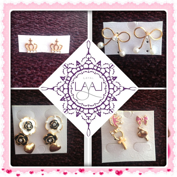 New in stud earrings layal glyfada
