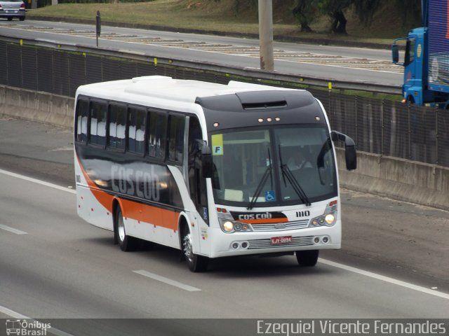 Ônibus da empresa Cos Cob Agência de Viagens e Turismo, carro 1110, carroceria Maxibus Lince 3.25, chassi Volkswagen 17.230 EOD. Foto na cidade de São José dos Campos-SP por Ezequiel Vicente Fernandes, publicada em 18/01/2017 13:28:04.