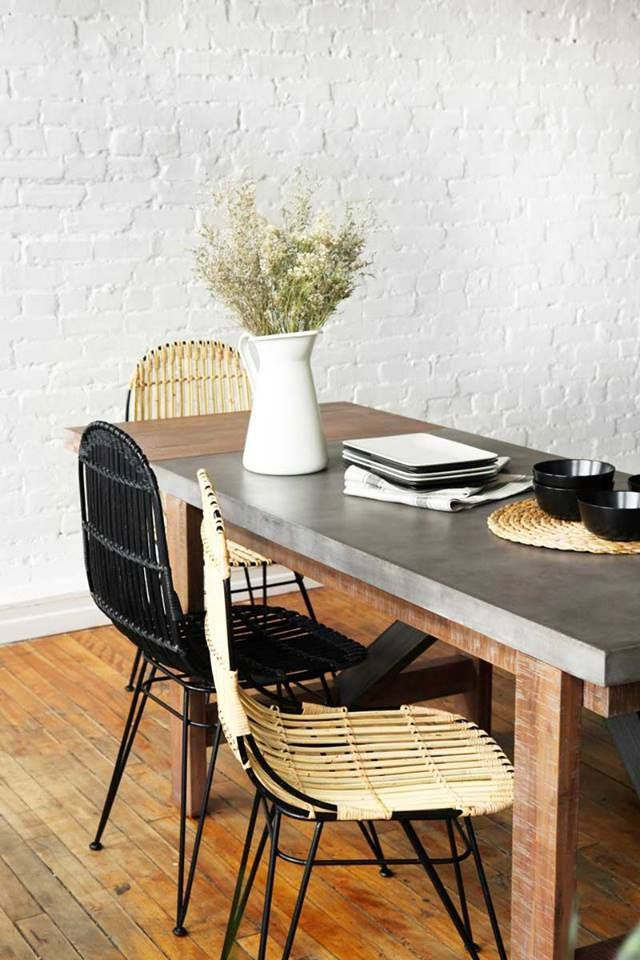 concrete dining table dining tables dining rooms office spaces kitchen