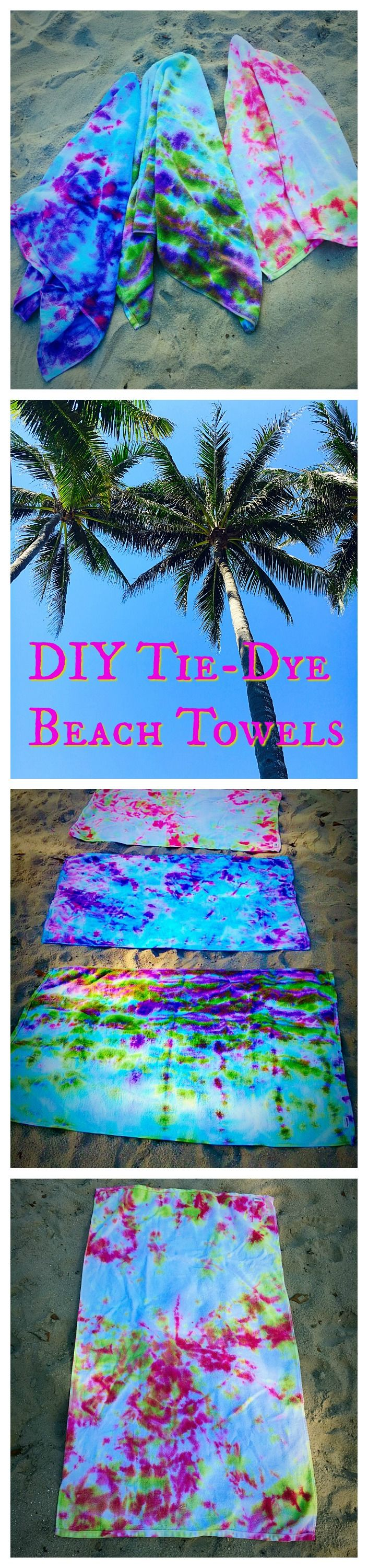 DIY your Christmas gifts this year with GLAMULET. they are 100% compatible with Pandora bracelets. So fun for Summer! Tie-Dye Beach Towels!