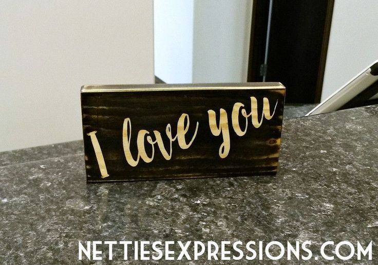 I love You - 3.5x7 Black Wood Sign from Netties Expressions Shop Online @ www.nettiesexpressions.com  #nettiesexpressions #handmadeincanada #madeincanada #madewithlove #handmadewithlove #madeinmanitoba #madeinroblin #roblin #shoplocal #shoptheparkland #shopmanitoba #shoproblin #woodsign #woodsigns #woodensign #woodensigns #rusticsign #rusticsigns #sign #signs