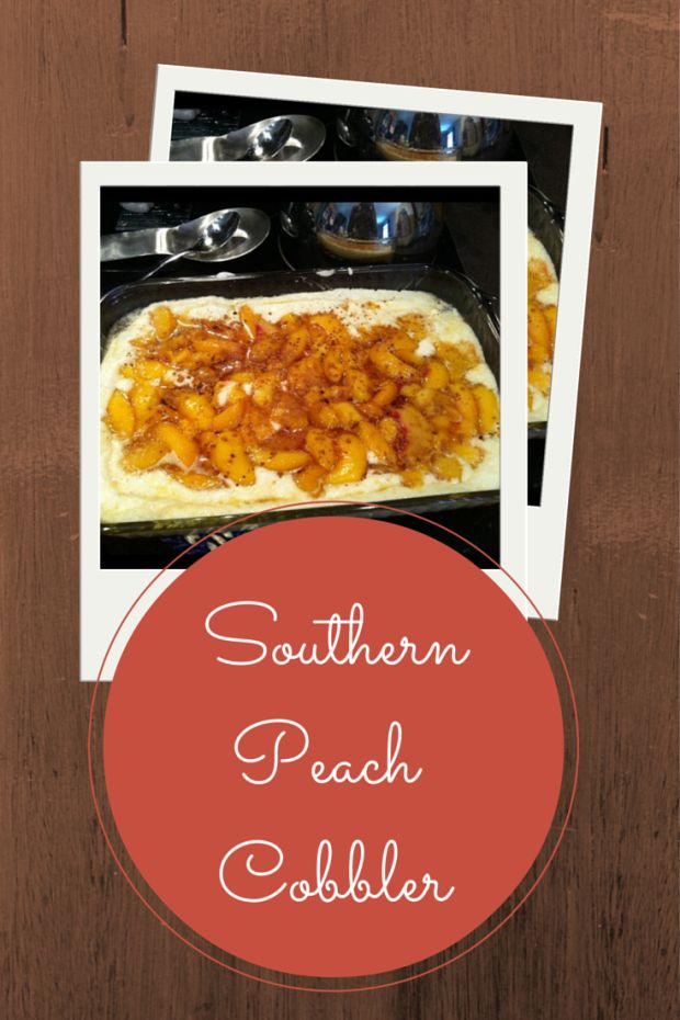 Best Peach Cobbler Ever.  Easy Southern Peach Cobbler from Southern Living 1/2 cup butter 2 cups sugar, divided 4 cups peaches, fresh or thawed frozen 1 Tbsp lemon juice 1 cup all purpose flour 1 Tbsp baking powder 1/4 tsp salt 1 cup milk Ground Cinnamon  Preheat oven to 375 degrees.