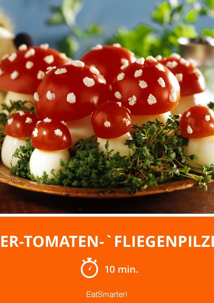 Eier-Tomaten-`Fliegenpilze´ - smarter - Zeit: 10 Min. | eatsmarter.de