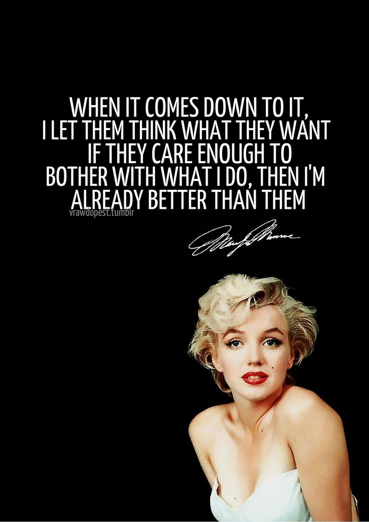 Simply magnificent marilyn monroe quotes tumblr all became