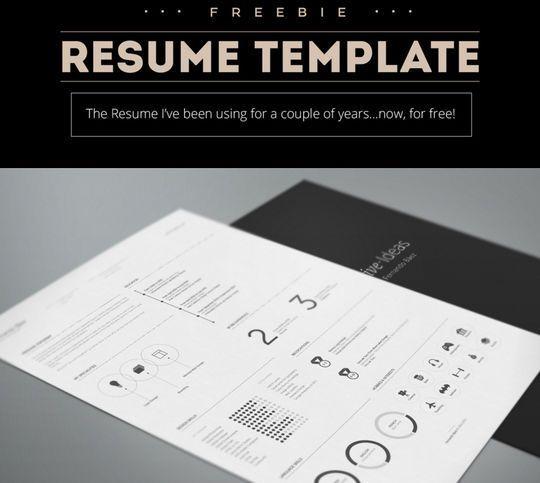 14 Free Simple Resume PSD Mockups & Templates | SmashingApps.com