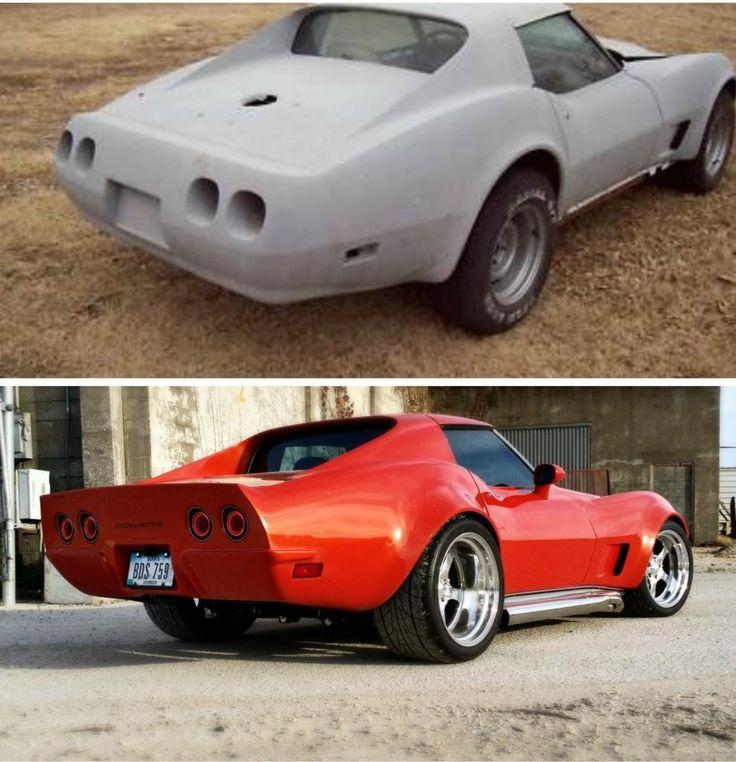 1976 Corvette Stingray Resto Mod, LS1, Richmond 6, Intro Pentia wheels,  Inferno Orange paint and body work done at  Custom Image Corvettes