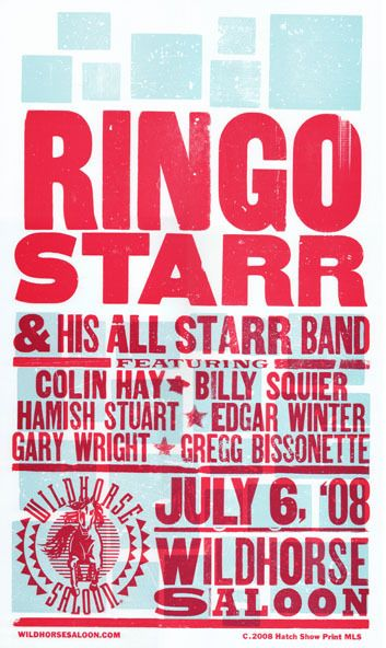 Ringo Starr And His All Starr Band by Hatch Show Print