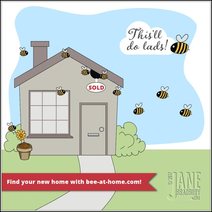 Bee Happy At Home | vector drawing in PaintShop Pro