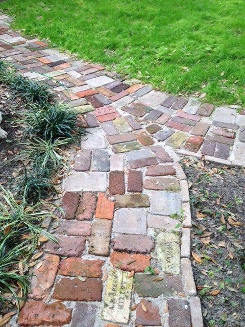 Antique brick path