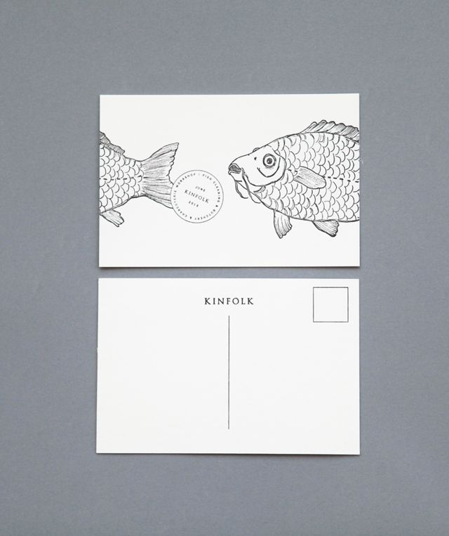 Amanda Jane Jones for Kinfolk Illustration by Anja Mulder Printer by Type A Press Simple postcard design - I'd like to keep my postcards simple enough so that the illustrations are the main focus.