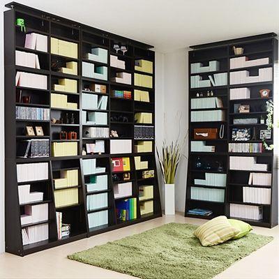 壁面収納棚板の高さが1センチ間隔で調整できる大容量薄型書棚(ホワイト/ナチュラル/ダークブラウン)のページです。家具通販ベルーナインテリア(interior)はインテリア商品が豊富な通販サイトです。