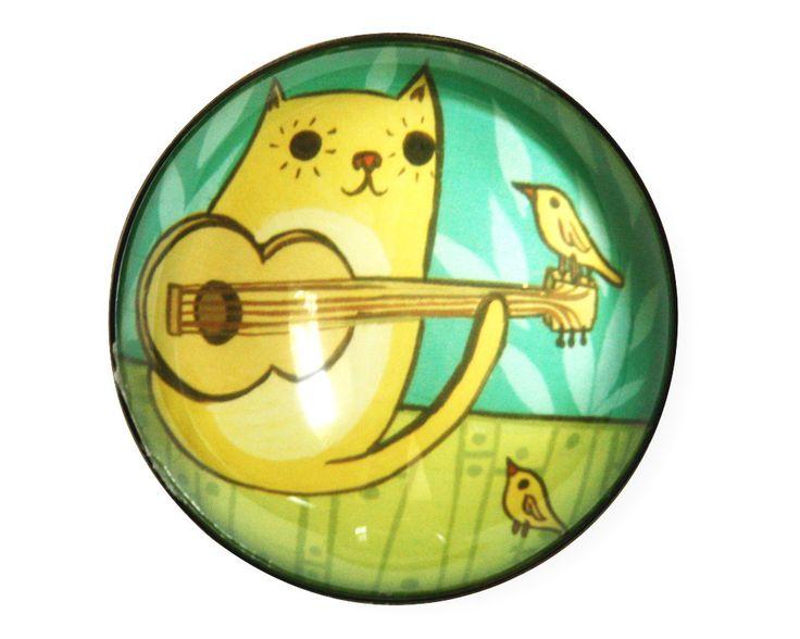 boygirlparty Etsy shop (http://ift.tt/1wlgGoA): #Cat Guitar Magnet - Housewarming gift for musician gift for music lover guitarist -- Source: http://ift.tt/11RMTWL