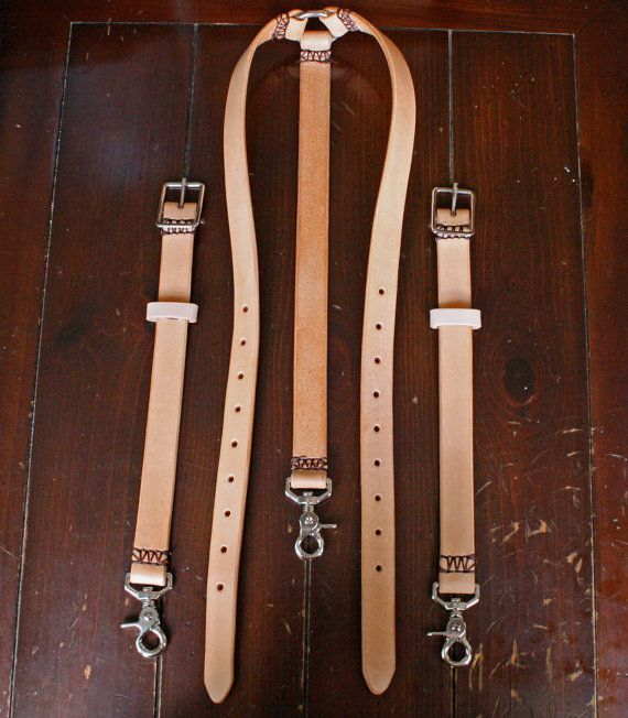 Leather Suspenders - Men's Suspenders - Handmade In the USA/ nickel plated hardware.   $88.56