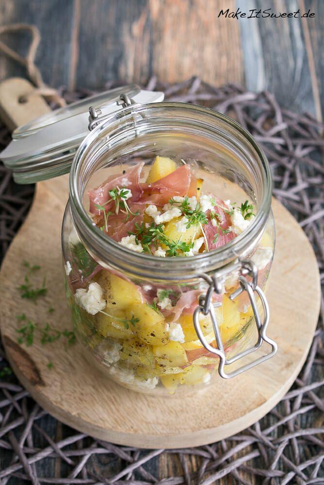 Ofenkartoffel-Schinken-Salat im Glas Rezept