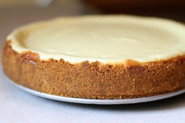 "Cheesecake recipe - ""To ensure a dense, creamy cheesecake there are ..."