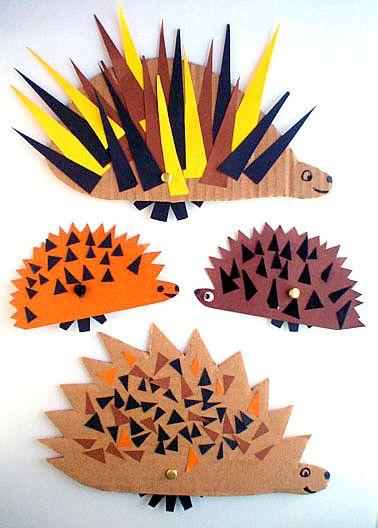 cardboard hedgehogs