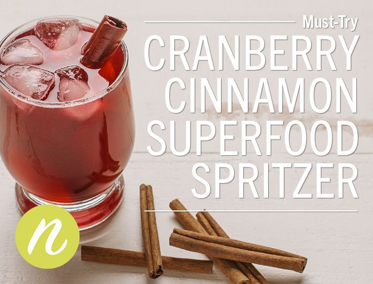 Cranberry Cinnamon Superfood SpritzerA refreshing non-alcoholic cocktail for all ages! Cranberries are a superfood rich in vitamin C and manganese and cinnamon is a superfood that contains...