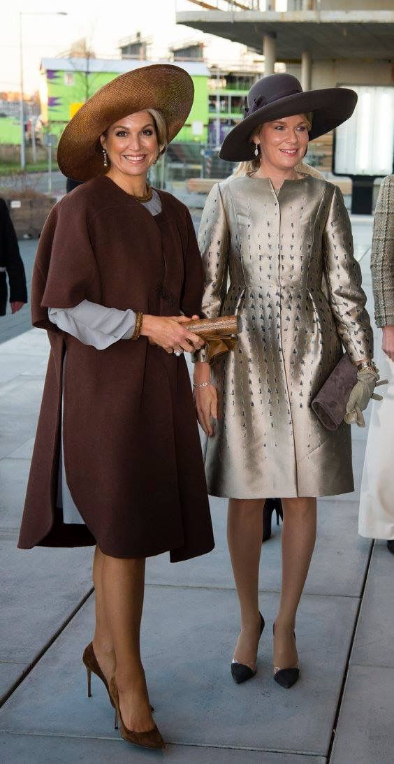 Queen Maxima of the Netherlands and Queen Mathilde of the Belgians