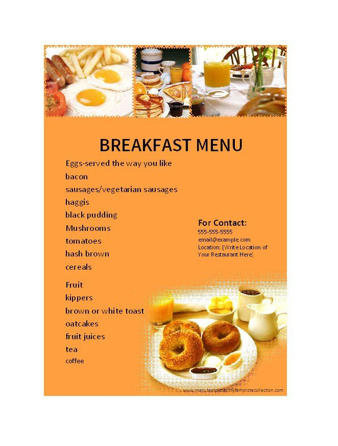 60 best cups images on Pinterest Cups, Mugs and 5th grade math - sample breakfast menu template