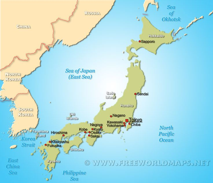 Map of Japan ... ISLAMIC TERRORISM: WHY THERE IS NONE IN JAPAN