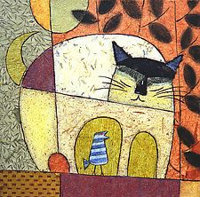 """Cat Chat by Penny Feder (Giclee Print) (13"""" x 17"""")"""