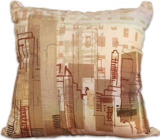 Cityscape and Citylights Designer Cushion by Philippa Wilkinson for The Eco Collective