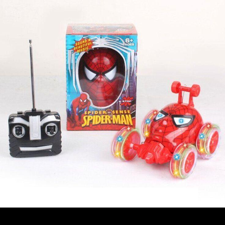 New Spiderman 360° Rotate Acrobatic stunt Rc Radio Remote Control Car