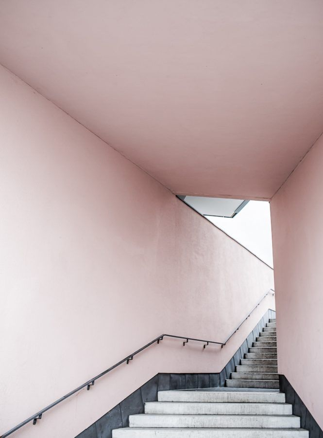 Print Pink Stairs – ANNALEENAS HEM AB