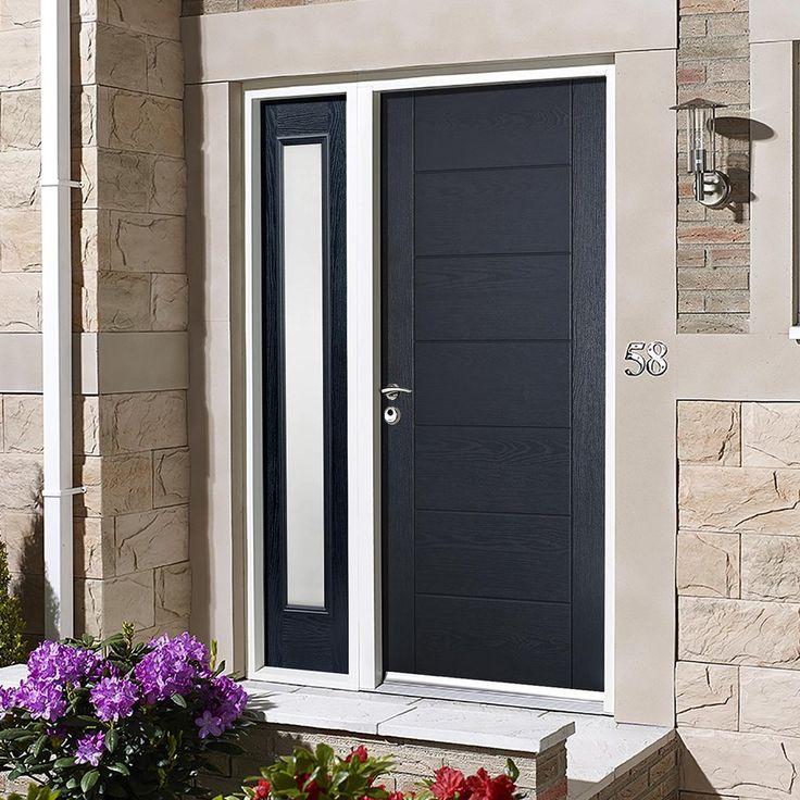 GRP Grey Modica Composite Door with Single Sidelight & 195 best External Composite Doors images on Pinterest | Frostings ...