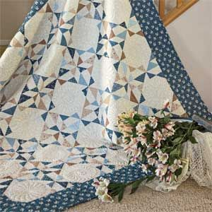 Lydia's Favorite: Quick Clever Lap Quilt Pattern Designed by GERRI ROBINSON, patterned in McCall's Quick Quilts April/May 2014