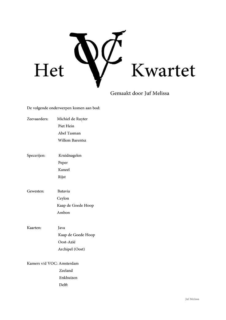 VOC Kwartet: Deel 1