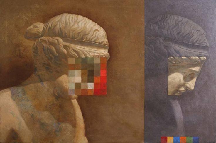 "Saatchi Art Artist Juan Manuel Álvarez Cebrián; Painting, ""Transfer of personality"" #art"