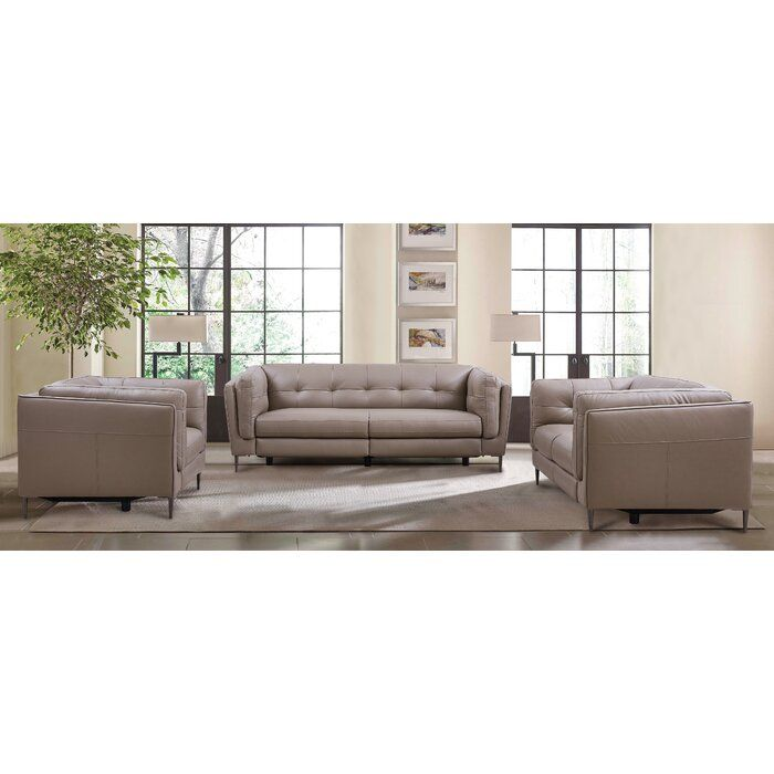"""2293 Best Images About Leather Sofas And Living Room: Goodner Genuine Leather Reclining 86"""" Pillow Top Arm Sofa"""