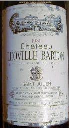 1981 Chateau Leoville Barton