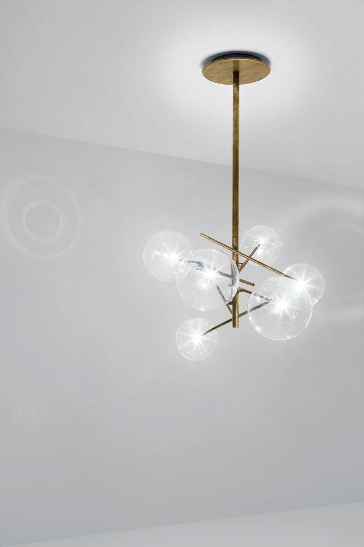 Lampadario moderno / in vetro / in ottone / in vetro soffiato BOLLE by Massimo Castagna Gallotti&Radice