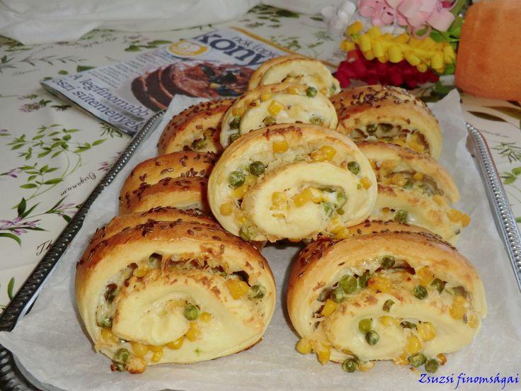 Kukoricás-borsós-sajtos párna