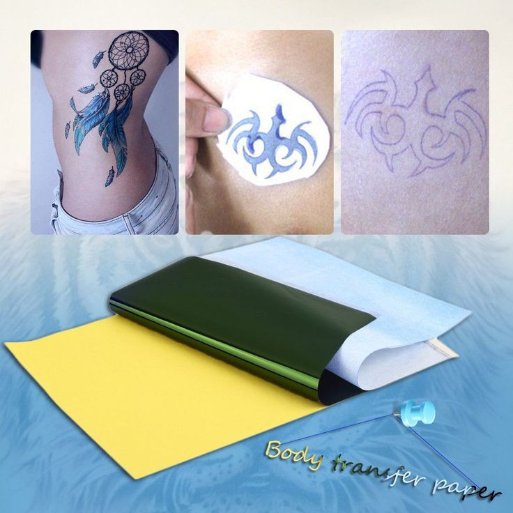50/100Pcs A4 Tattoo Transfer Carbon Paper Supply Tracing Copy Body Art Stencil | eBay