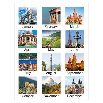 At-A-Glance European Destinations Desk Pad Calendar, 22 x 17, 2017, White