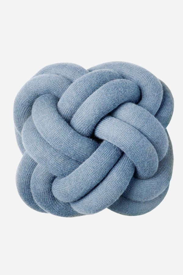 Knot Cushion - Blue