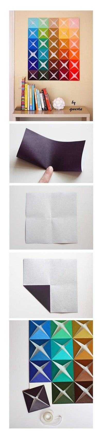 Tableau origami multicolore