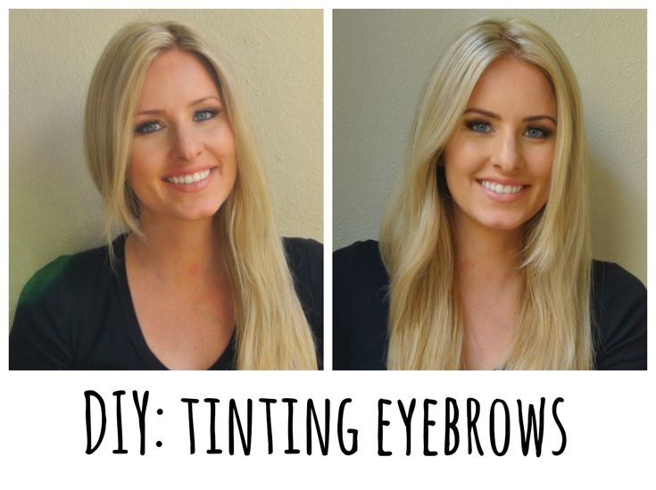 How to dye your eyebrows at home.  How is it this easy?!?! Before and after with refectocil.