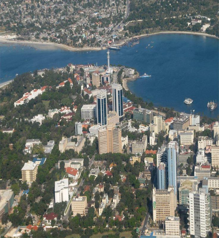View Dar Es Salaam City From The Air Dar Es Salaam