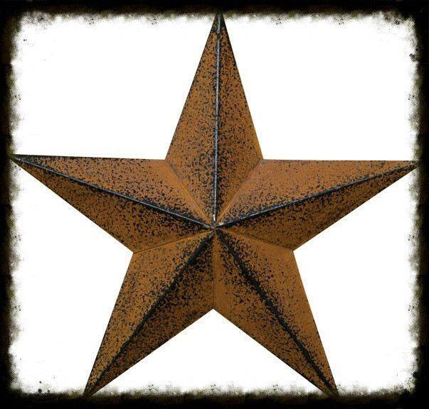 Rusty Black Barn Star