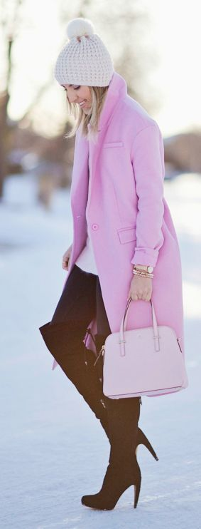 Pastel On Neutral Winter Outfit by Stephanie STERJOVSKI