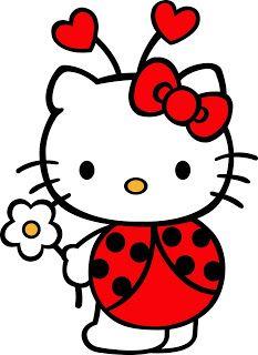 hello kitty   hello kitty disfrazada de mariquita hello kitty dibujos para imprimir ...