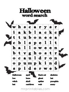 Best 25+ Halloween word search ideas on Pinterest | Halloween ...