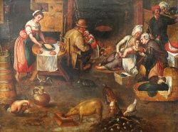 "Pieter Aertsen ""Interior of the village chamber"" -  c 1560"