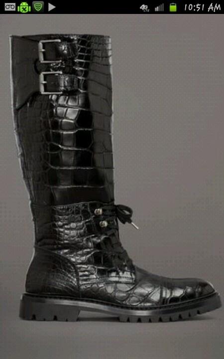 Belstaff crocodile motorcycle boots - $24,000