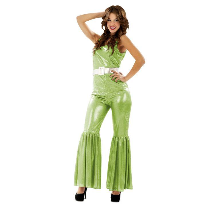 Disfraz Chica Disco Verde #disfraces #carnaval